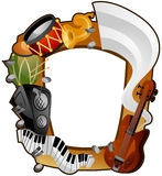 Musical Instruments Frame Royalty Free Stock Image