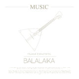 Musical instruments graphic template. Balalaika. Royalty Free Stock Photography