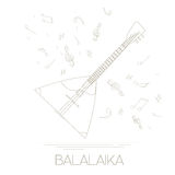Musical instruments graphic template. Balalaika. Royalty Free Stock Images