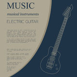Musical instruments graphic template. Electric guitar Stock Photography