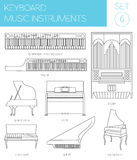 Musical instruments graphic template. Keyboard Royalty Free Stock Photography