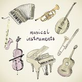 Musical instruments Stock Image