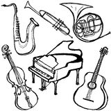 Musical instruments. Royalty Free Stock Photos