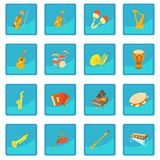 Musical instruments icon blue app. For any design vector illustration Stock Photography