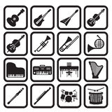 Musical instruments icon set. 