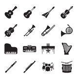 Musical instruments icon set Royalty Free Stock Image