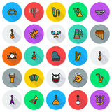Musical instruments icon set on white background. Created For Mobile, Web, Decor, Print Products, Applications. Icon . Vector illustration Vector Illustration