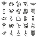 Musical instruments icon set on white background. Created For Mobile, Web, Decor, Print Products, Applications. Icon . Vector illustration Royalty Free Stock Photography