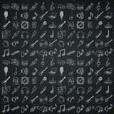 Musical instruments icons set. Royalty Free Stock Photography