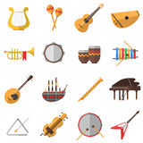 Musical Instruments Icons Set Stock Photo