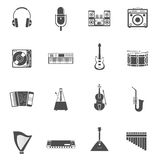 Musical Instruments Icons Set Stock Image