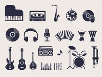 Musical instruments icons set Royalty Free Stock Image