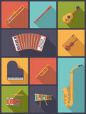 Musical Instruments Icons Vector Illustration Stock Photography