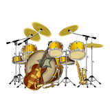 Musical instruments jazz group Royalty Free Stock Image