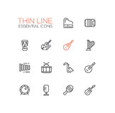 Musical Instruments - line icons set Royalty Free Stock Images
