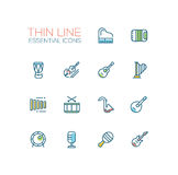 Musical Instruments - line icons set Stock Photography