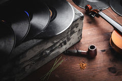 Musical instruments and old objects Stock Photography