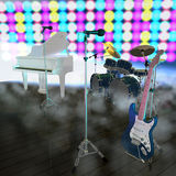 Musical Instruments On A Stage Stock Photo