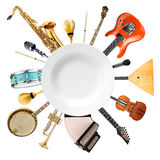 Musical instruments, orchestra Royalty Free Stock Image