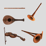 Musical instruments package Stock Photography