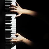 Musical instruments Piano hands Stock Photos