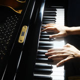 Musical instruments Piano hands royalty free stock image