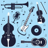 Musical instruments set Stock Images