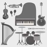 Musical instruments set Stock Photography