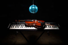 Musical instruments in shadow Stock Photos