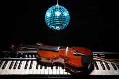 Musical instruments in shadow, close up Stock Images