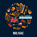Musical instruments and sound equipment Stock Image