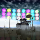 Musical instruments on a stage Royalty Free Stock Photo