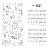 Musical instruments and symbols Stock Photo