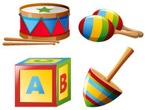 Musical instruments and toys Royalty Free Stock Photos