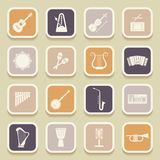 Musical instruments universal icons Royalty Free Stock Photography