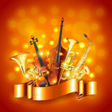 Musical instruments vector background Stock Images