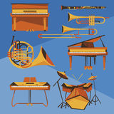 Musical Instruments vector collection Stock Photo