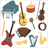 Musical instruments Stock Photography