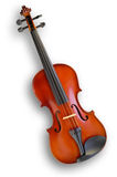 Musical instruments: violin. Isolated on white background with clipping path Royalty Free Stock Image