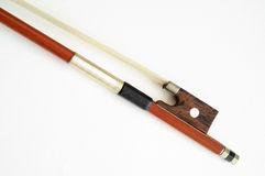 Musical instruments: violin bow. Closeup Royalty Free Stock Photography