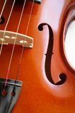 Musical instruments: violin closeup Stock Photography