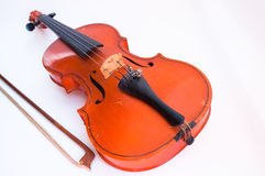 Violin on a white background Stock Photo