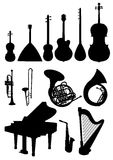 Musical instruments. On white background Royalty Free Stock Photos