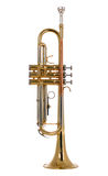 Musical instument trumpet. There is a musical instrument trumpet, new and shining Stock Images