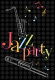 Musical jazz Background. With saxophone and trombone Stock Images