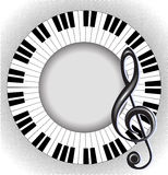 Musical karta z treble clef i fingerboard Zdjęcie Royalty Free