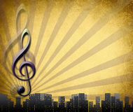 Musical key background in retro Royalty Free Stock Image