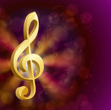 Musical key with notes Stock Image