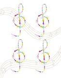 Musical key Vector colorful notes symbol illustration. S Stock Image