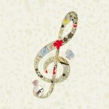 Musical key3 vector illustration
